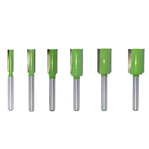 Gfpql WYanHua-Caña bit de Doble Flauta de Doble Flauta de Vidrio de 6 mm, Cortador de fresado para Madera de tungsteno enrutador de carburo 6pcs, Accesorios para Herramientas de Bricolaje