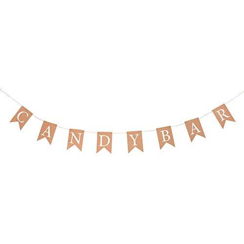 ewtshop® Guirnalda de candy bar decorativa en estilo vintage para cumpleaños, bodas,...