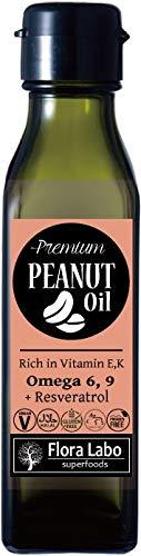 プレミアム ピーナッツ・オイル 120mL [Flora Labo] アメリカ産|天然無添加 食用ピーナッツ油|航空便で直輸入|PREMIUM NATURAL PEANUT OIL
