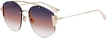Dior Stronger Grey Fuschia Gradient Aviator Ladies Sunglasses