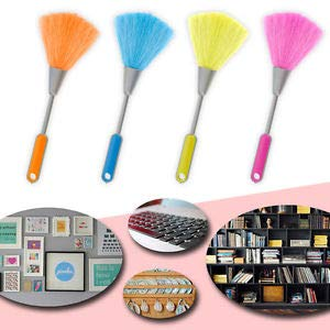 SHOPEE Branded Mini Electrostatic Soft Screen Whisk Car Dashboard Laptop Keyboard Desk Computer Printer Cleaning Brush Mini Duster Cleaner Anti-Static Screen Sweeper Broom (1 Piece, Random Color)