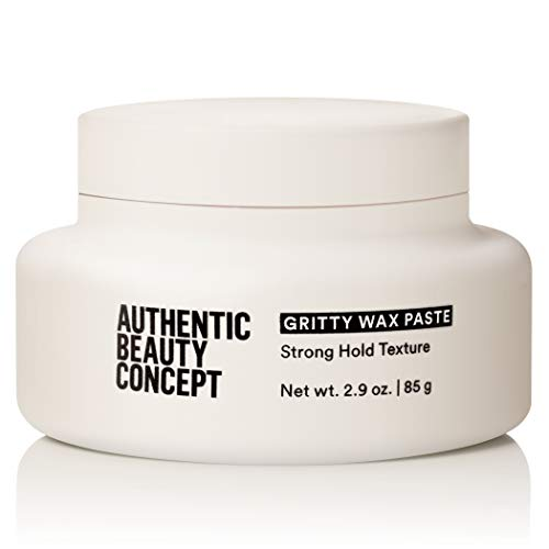 Authentic Beauty Concept Gritty Wax Paste | All Hair Types | Semi-Matte & Strong Hold | Vegan & Cruelty-free | Silicone-free | 2.9 fl. oz.