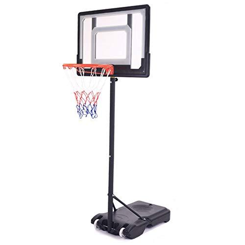 ZAQI Basketballständer In-Ground Basketball Goal, Indoor Outdoor Garage Tragbarer, professioneller Basketballkorb for Kinder, Jugendliche, Kinder, Schwarz