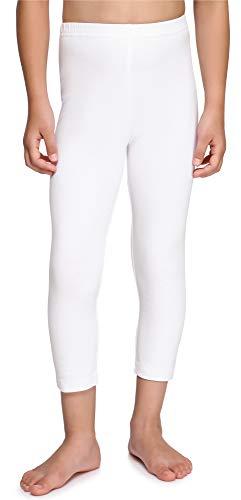 Merry Style Leggins Mallas Pantalones Piratas Ropa Deportiva Niña MS10-226(Blanco, 110 cm)