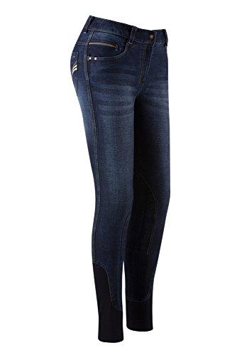Equi-Theme/Equit'M 979680734 Texas Jeans, denim blue/beige topstitching, eenheidsmaat