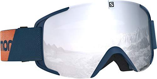 Salomon, Xview, Unisex-Skibrille, Blau (Moroccan Blue)/Universal Super White, L40519100
