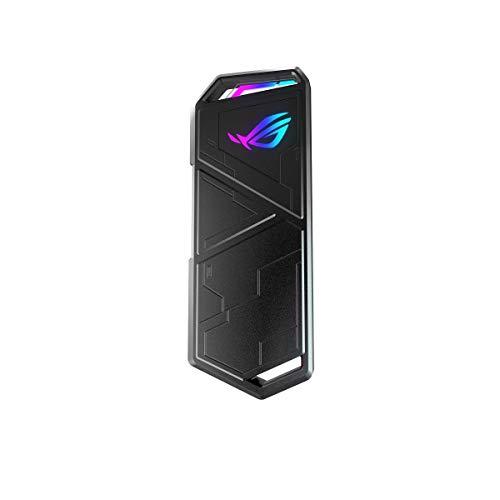 ASUS ROG Strix Arion, Case per SSD M.2 con connettività USB 3.2 GEN2 Type-C 10 Gbps, cuscinetti termici inclusi, RGB Aura Sync
