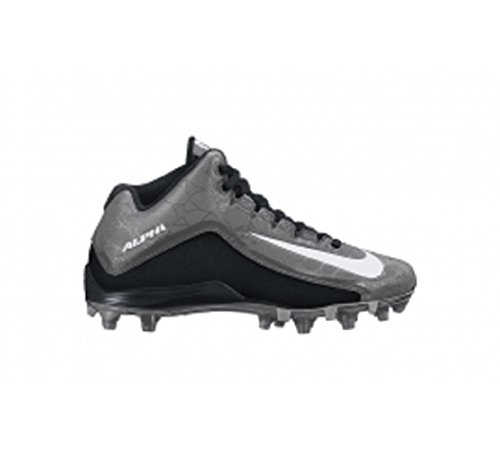 New Nike Men's Alpha Strike 2 3/4 D Football Cleat Black/Dark Grey 12