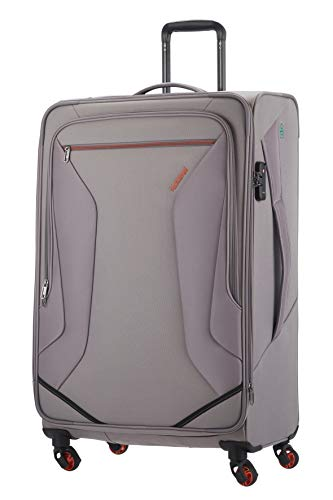 American Tourister Eco Wanderer - Spinner Hand Luggage, 79 cm, 121 L, Grey