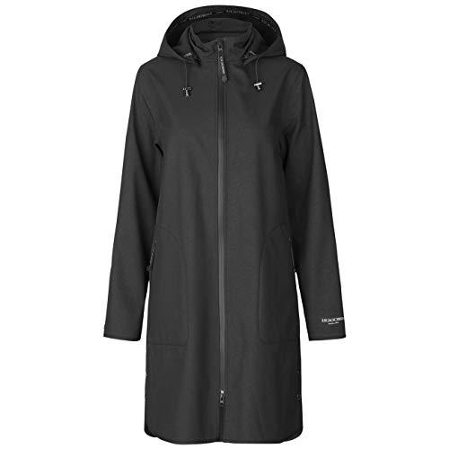 Ilse Jacobsen Raincoat | A Light and Feminine Trench-Inspired Raincoat with a Waist Belt | Softshell 100% Polyester | RAIN128 Black 40