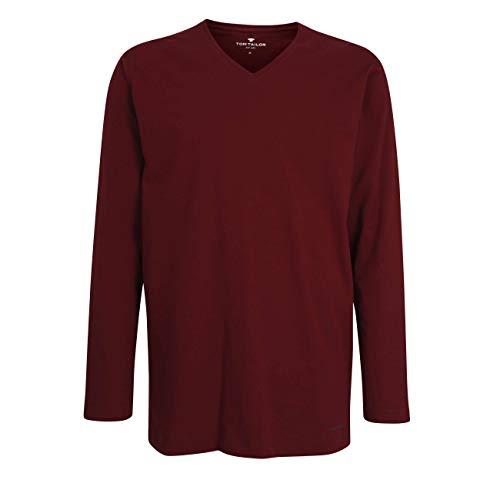 TOM TAILOR Herren T-Shirt rot Uni 1er Pack 48