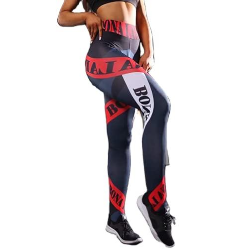 QTJY Pantalones de Yoga para Mujer con Levantamiento de Cadera y Secado rápido, Leggings de Gimnasio elásticos de Cintura Alta, Pantalones de Ejercicio para Correr BS