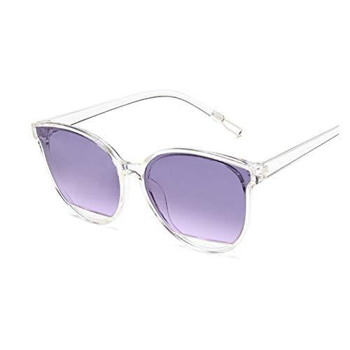 QQGGTongFeng Clásico Moda Gafas de Sol Mujeres Vintage Metal Mirror Classic Vintage Gafas de Sol Mujer UV400 para Exterior (Lenses Color : Trans Purple)