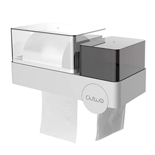ZAJ Papierhandtuchhalter Toilettenpapierhalter, Gewerbe Toilettenpapierhalter, Serviettenspender Küchenaufbewahrungsbehälter, Küchenpapierhandtuchhalter Toilettenpapierhalter