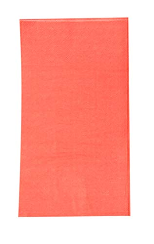 Paper Dinner Napkins - 120-Pack Disposable Napkins, 2-Ply Absorbent Napkins for Everyday Kitchen, Dining, Events, Parties, Coral Pink, Unfolded 15.5 x 13 Inches, Folded 7.5 x 4.25 Inches