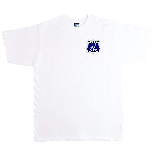 Old School Football Fußball-T-Shirt Leeds United 1950er Jahre Größe S-XXXL Logostickerei XXL weiß