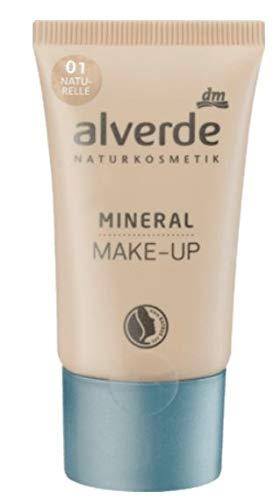 Mineral Make-up Foundation - Grundierung - Naturkosmetik Mit Extrakten aus Aprikose und Pfirsich, Jojobaöl, Arganöl und Sheabutter - 30 ML - Naturelle 01