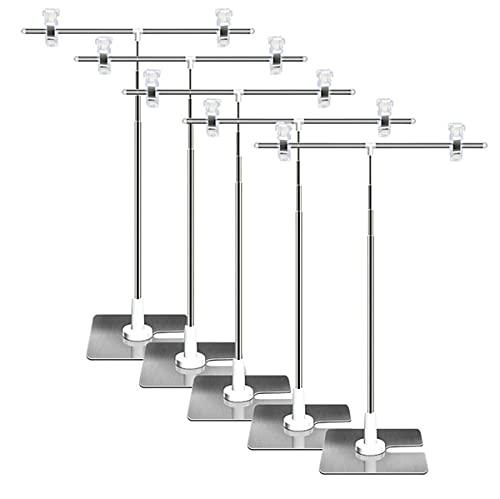 AZAKBL POPスタンド 長さ調節可能 ポスター スタンド持ち運びに便利 簡単収納 組み立て式 広告スタンド (5個入り)