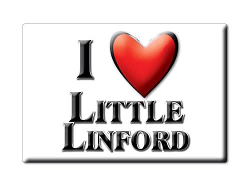 Enjoymagnets Little LINFORD (Eng) Souvenir IMANES DE Nevera Inglaterra England IMAN Fridge Magnet Corazon I Love