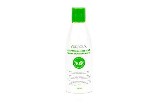 PURDOUX ™ CPAP Reinigungsseife/Reiniger für Masken und Schläuche (Grüner Tee - Minzduft, 1 x 250 mL)