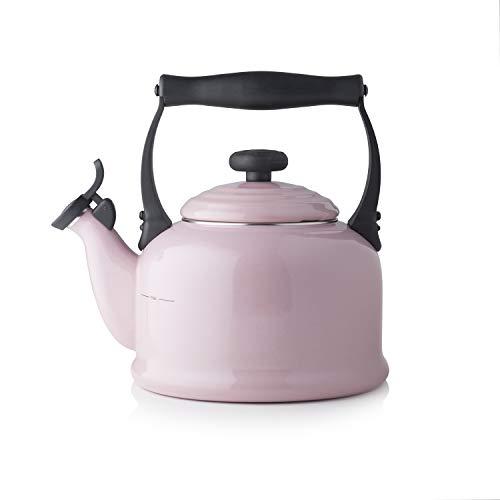 Le Creuset Kone Wasserkessel mit Pfeife Chiffon Pink
