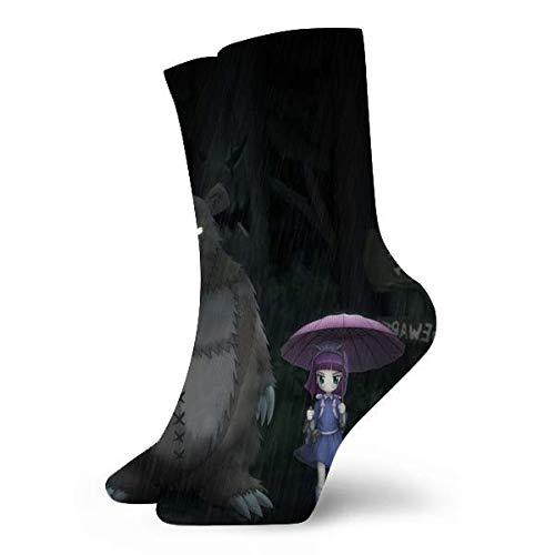 Rincvo Anime Totoro Damen Socke Casual Crew Socken Kissen Laufsocke
