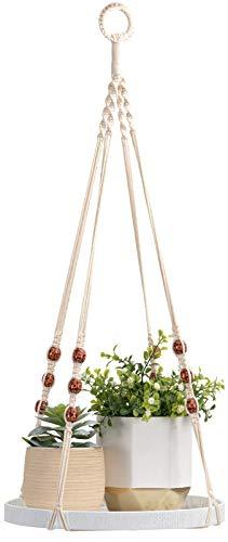 TIMEYARD Macrame Plant Hanger - Indoor Hanging Planter Shelf - Decorative Flower Pot Holder - Boho...