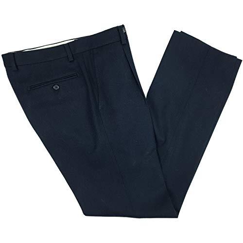 N+1 Pantalone Uomo Classico in Lana Flanella Taglie Forti Calibrato Vita AltaGamba Larga 59 61 63 65 67 69 71 73 75 (67 - Blu)