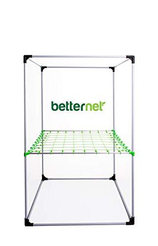 growber Betternet 8x8 Scrognetz für 22mm Zeltstangen Grow Box Netz + Fixture Poles für jedes Growzelt bis 120x120cm - Ranknetz - Planznetz