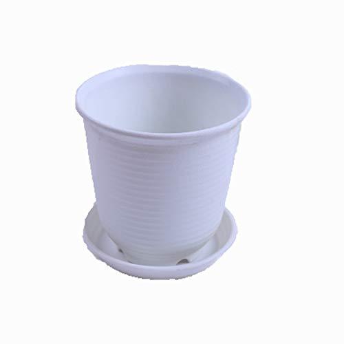 Vaso di fiori in resina vaso di fiori addensare vaso di fiori Resina ecologica Spessa e resistente Con vaschetta di scarico Home (Colore: B, Dimensioni: 7.5L)