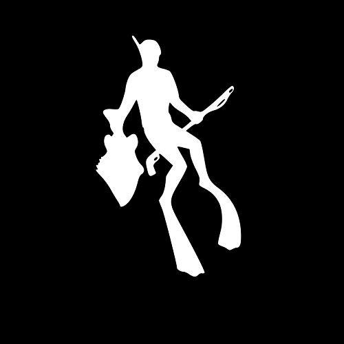 Autocollants pour voitures 7.9 * 13 cm L'elegante autoadesivi for auto for la pesca del mare profondo personalizzato in vinili for motociclisti Nero/Argento autocollants pour voitures