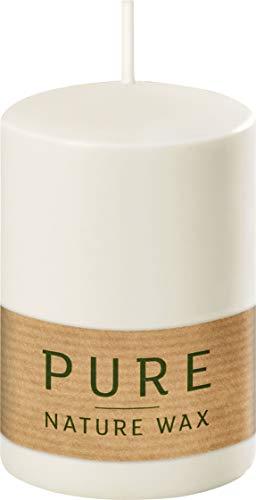 safe candle Pure Kerze selbstverlöschend, 4 Stück, umweltfreundlich (60% weniger CO₂, plastikfreie Verpackung) (9 x 6 cm)