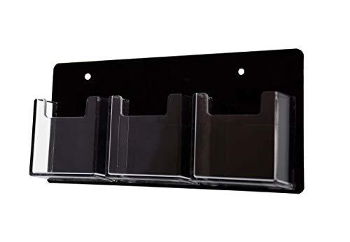 マーケティングのホルダーロット24クリア3ポケットブラック垂直クリアビジネスカードホルダー壁マウント