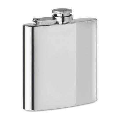 Longbow Edelstahl Flachmann und Trichter, 18oz 500 ml | Geeignet zum Tragen von Alkohol