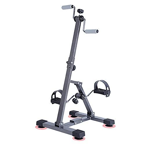 Bicicleta estática, Entrenador de Pies y Manos plegables con resistencia variable, bicicleta de recuperación de entrenamiento de ejercicio físico para ancianos discapacitados/Black / 90.5x42.5