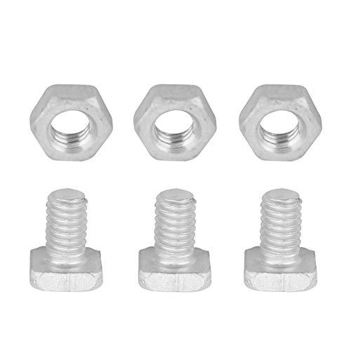Niiyen Tuercas de Pernos de Invernadero, Tuercas de Aluminio de 50 Piezas + Juego de Accesorios de Herramientas de Tornillos de 50 Piezas