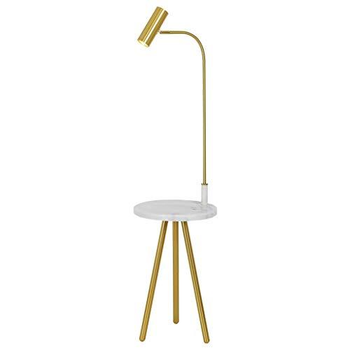 WYZ Floor Lamp Lampara de pie, combinacion de Mesa de Comedor Lampara de pie, Adecuada para Sala de Estar Mesa Ajustable Mesita de Noche Lampara de pie de marmol (Color : Tri-Color Source)