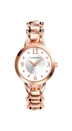 Viceroy Damen Analog Quarz Uhr mit Edelstahl Armband 40774-97