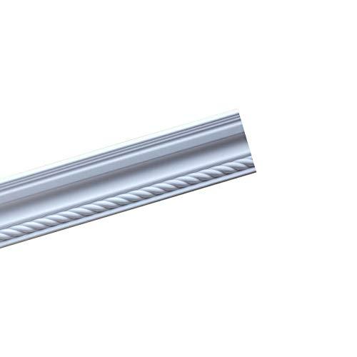 A la Maison Ceilings GK85 Rope DIY Glue-up Foam Crown Molding (Pack / 32.5 ln. ft.), White