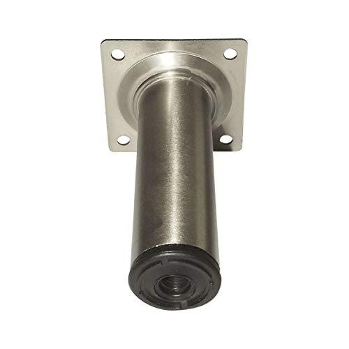 Preisvergleich Produktbild Element System 11100-00172 Möbelfuß Rundrohr ø 30 mm,  Länge 200 mm,  Stahl Edelstahl Effekt,  Stainless Steel Optics