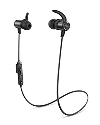 Anker Wireless Headphones, Upgraded SoundBuds Slim Workout Headphones Magnetic In-Ear Earbuds, Bluetooth 5.0, 10-Hour Playtime, IPX7 Waterproof for Workouts, Running, Swimming, Gym, Work, Home by Anker