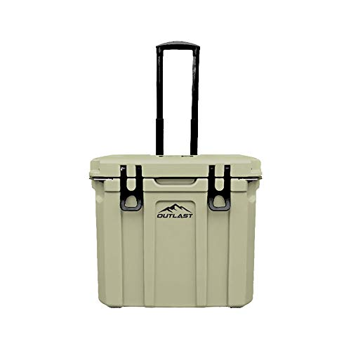 Outlast Life 37 Qt OD Series, Rotomolded Premium Ice Cooler with Cutting Board/Divider