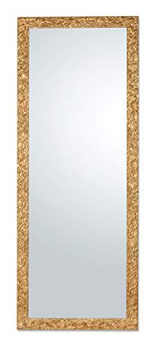 Espejo con Marco de Madera de Abeto clásico Acabado Dorado