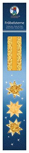 Ursus 34770000 – fröbelstern Lot, 80 Haute qualité Bandes, 1,5 x 45 cm, Or
