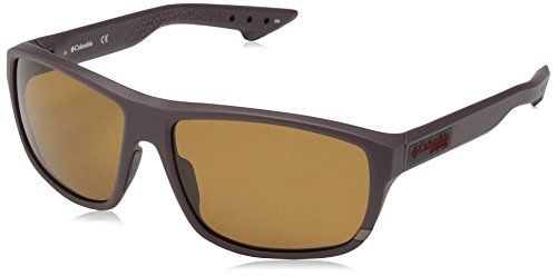 Columbia Gafas de sol ovaladas polarizadas Airgill Lite para hombres, ceniza mate, 60 mm