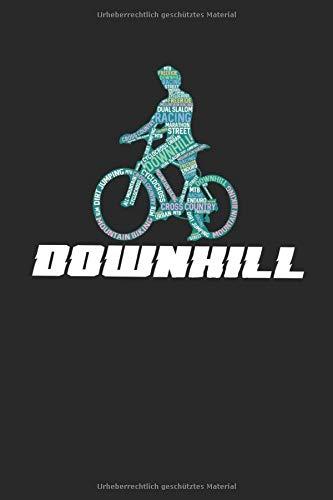 Meine Radtouren: Dokumentiere deine Fahrrad, Mountainbike, Rennrad Touren und Ausflüge ♦ Tagebuch für über 100 Touren ♦ Verbessere deine Fitness und Ausdauer ♦ 6x9 Format ♦ Motiv: Downhill 17