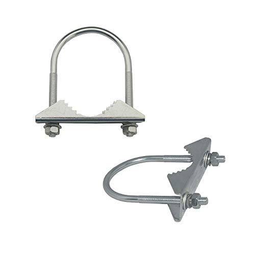 Chaowei Antenna Mast Cross Over Bracket Accessories Clamp U-Bolt Mounting Hardware in Stainless Steel(Pack of 2)