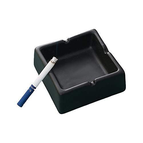 Cenicero de cerámica portátil simple práctico conveniente para el hogar salón oficina...