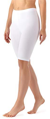Merry Style Damen Kurze Leggings aus Viskose MS10-145 (Weiß, XL)