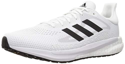 adidas Herren Solar Glide 3 Running Shoe, Cloud White/Core Black/Dash Grey, 42 2/3 EU